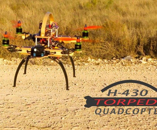 H - 430 TORPEDO QUADCOPTER Folding Easy to See Orientation From a Distance