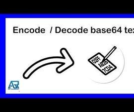 如何解码/编码base64到文本