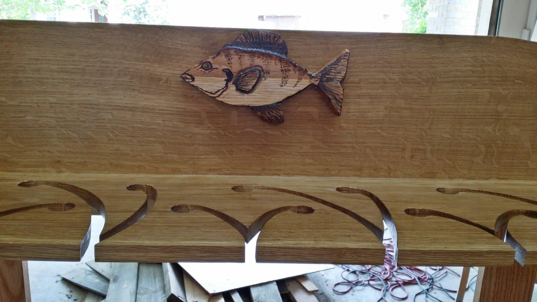 Mighty Oak Fishing Pole Rack