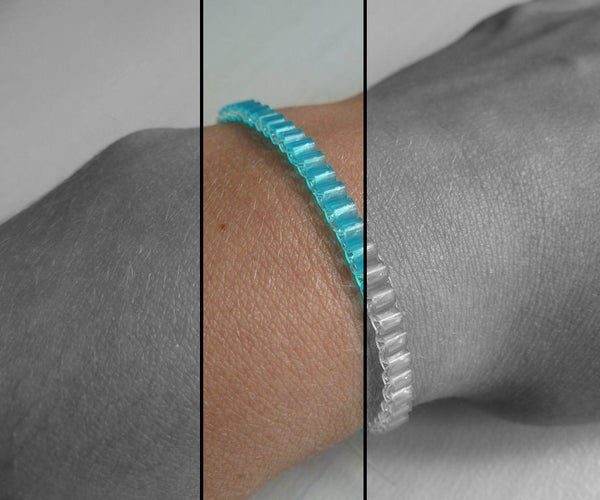 Single Row 'perler Beads' Bracelet