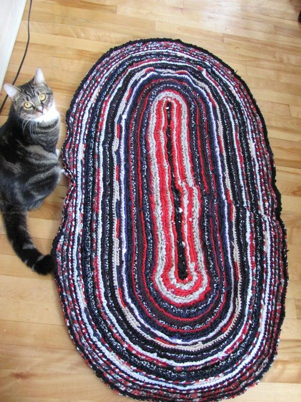 Oval Rag Rug (made With a Big Crochet)