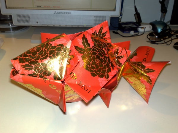 Chinese New Year Decoration - Lai See (Red Pocket) Fish