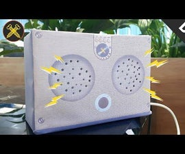 DIY - Make USB Mini Speaker System With PAM8403 and Cardboard | Gold Screw