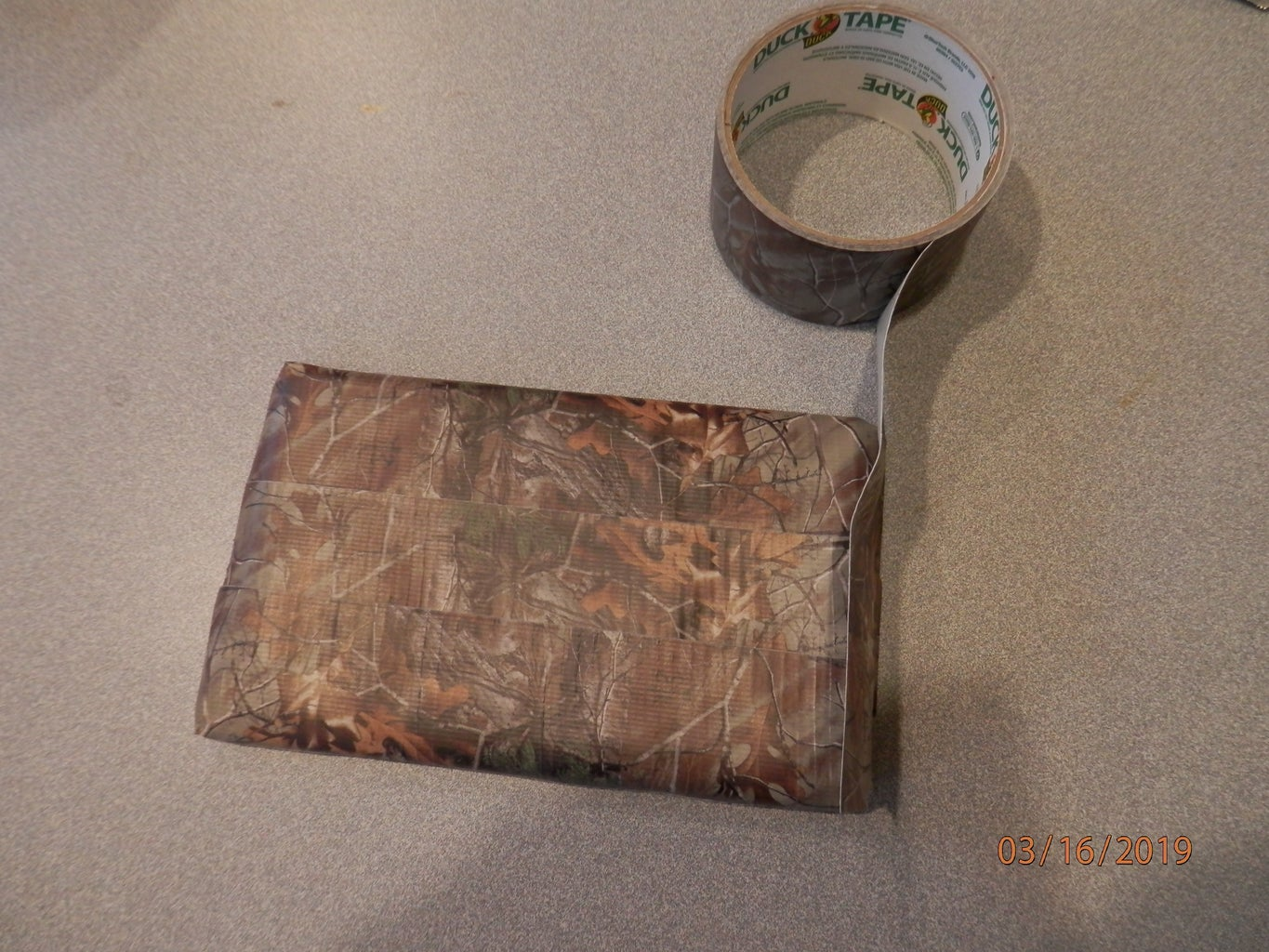 Cover Back in Duck Tape