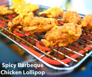 Spicy Barbecue Chicken Lollipop - Who's Hungry