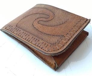 Prehispanic Laser Cut Leather Wallet