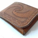 Prehispanic Laser Cut Leather Wallet