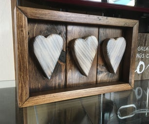 3 Heart Display From Cutoffs