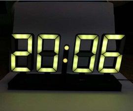 带WS2812B的RGB 7段显示时钟