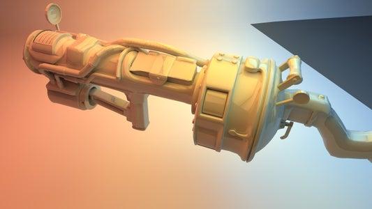 3D Printable Railway Rifle (fallout 3)