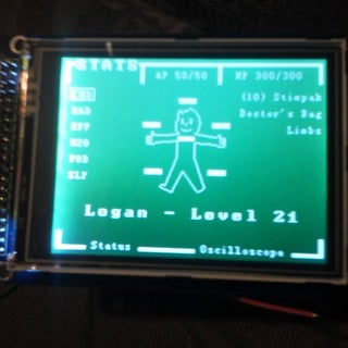 """Make an Oscilloscope Using the SainSmart Mega2560 With the TFT LCD Shield and the 3.5 """"color Touch Screen"""