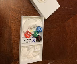 Dice Tower and RPG Minis Storage Container