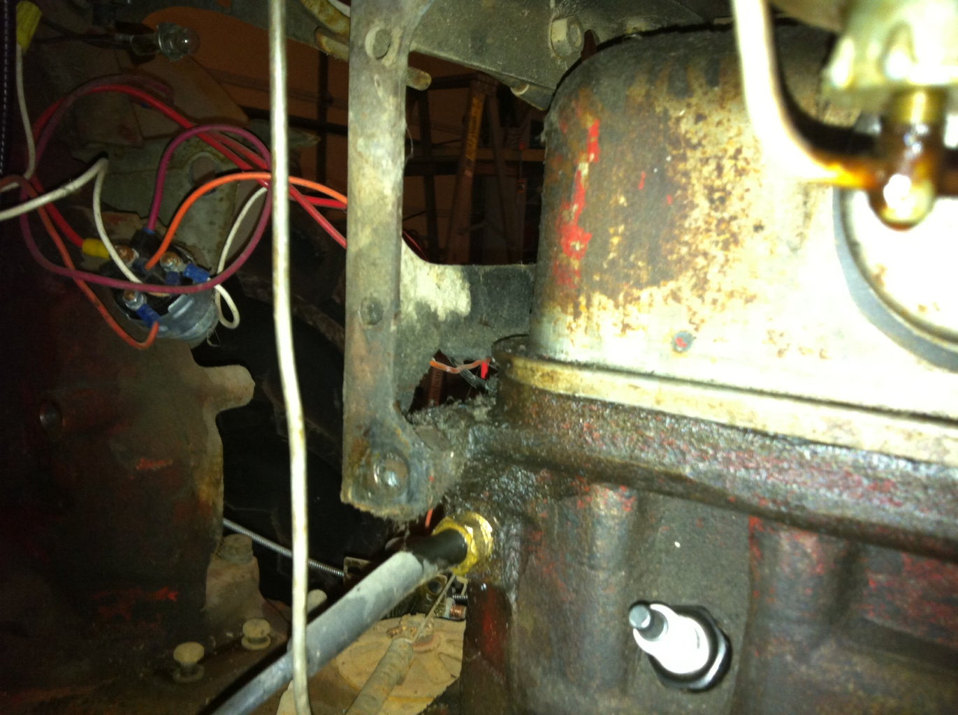 Weld Cast Iron (Ford '54 NAA Head Repair)
