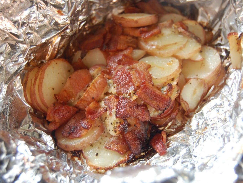 Bacon Hash in Foil Breakfast