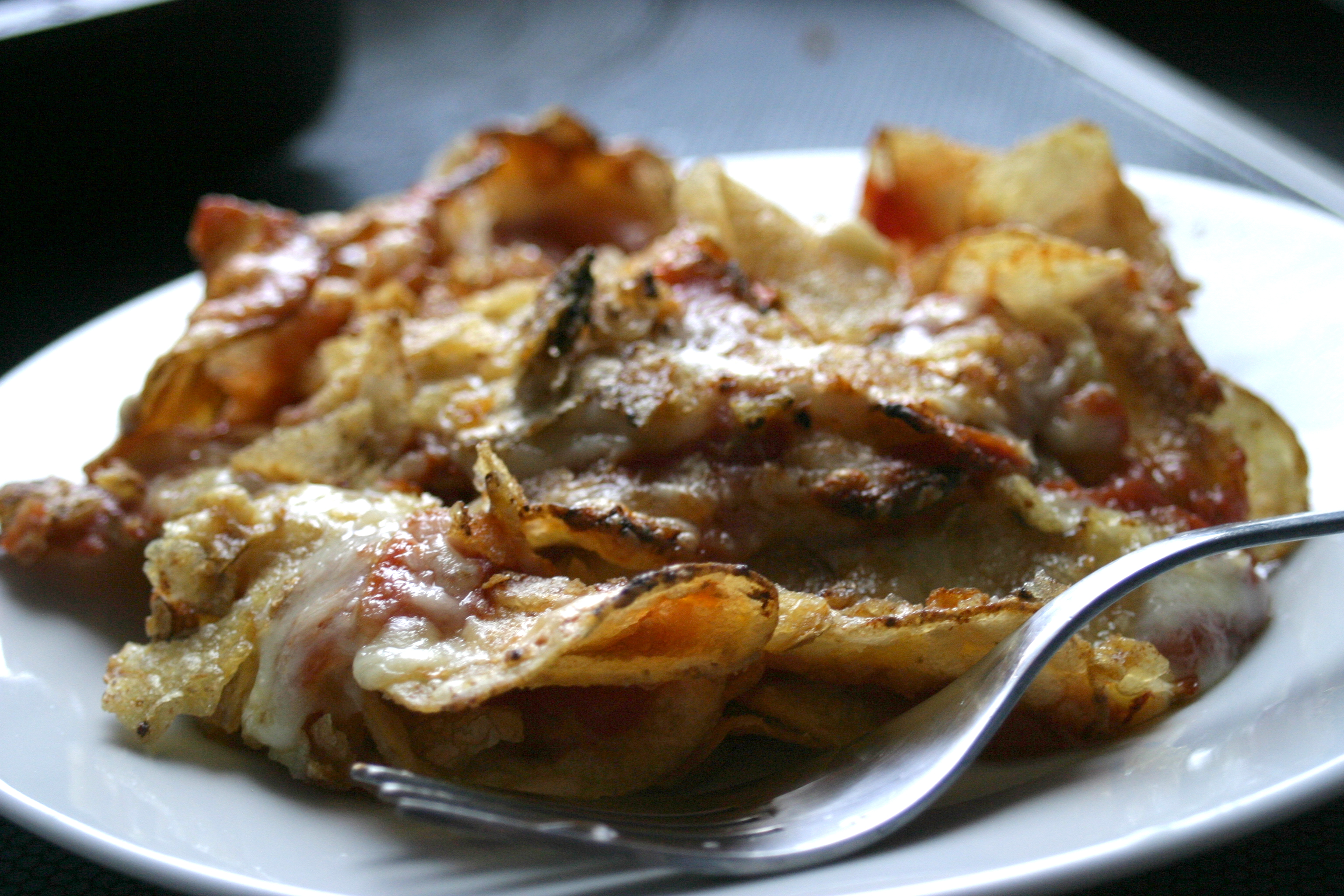 Crispy Cheese and Tomato Bake