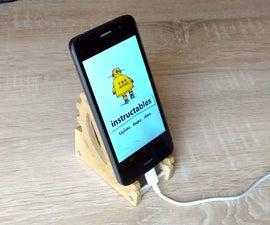 Adjustable Plywood and Aluminium Phone Holder