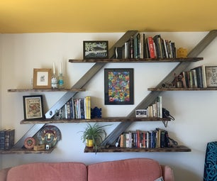 Floating Shelves Using Box Section and Scaffold Planks