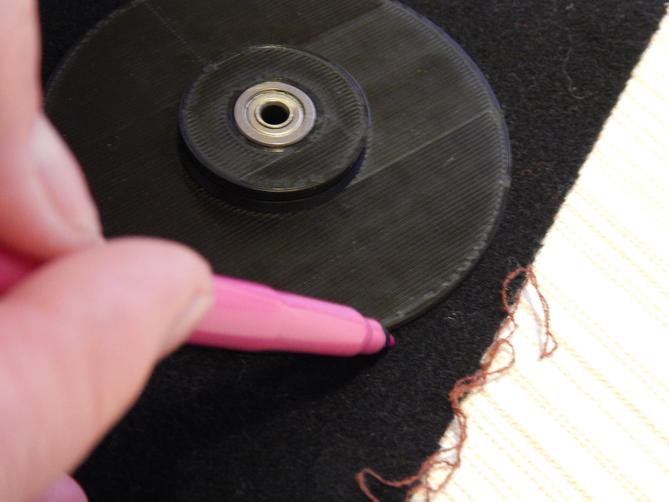 Fabric Pad Cutting and Gluing