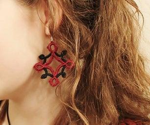 DIY Needle Tatted Earrings