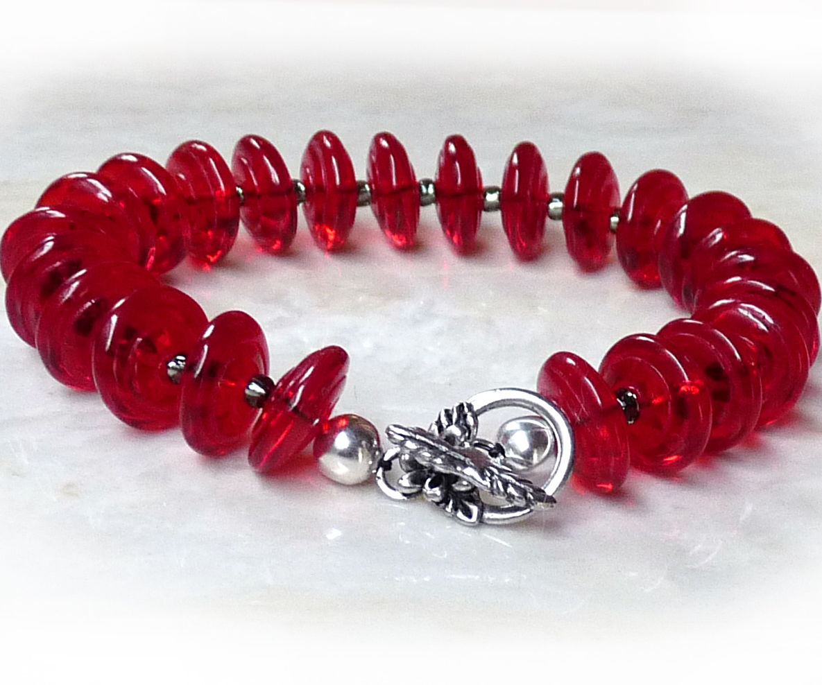 Beaded Bracelet with Clasp
