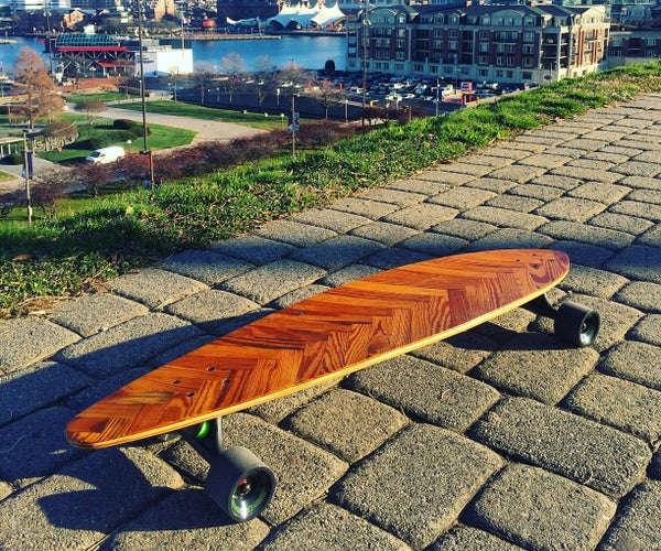 Reclaimed Pintail Lath Long Board