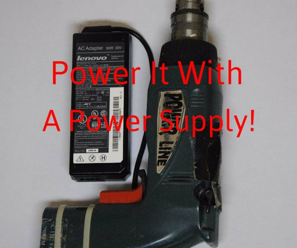 Power Your Drill With a Computer Power Supply!