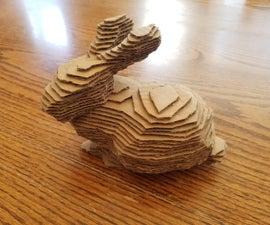如何制作几乎任何东西的分层纸板雕塑