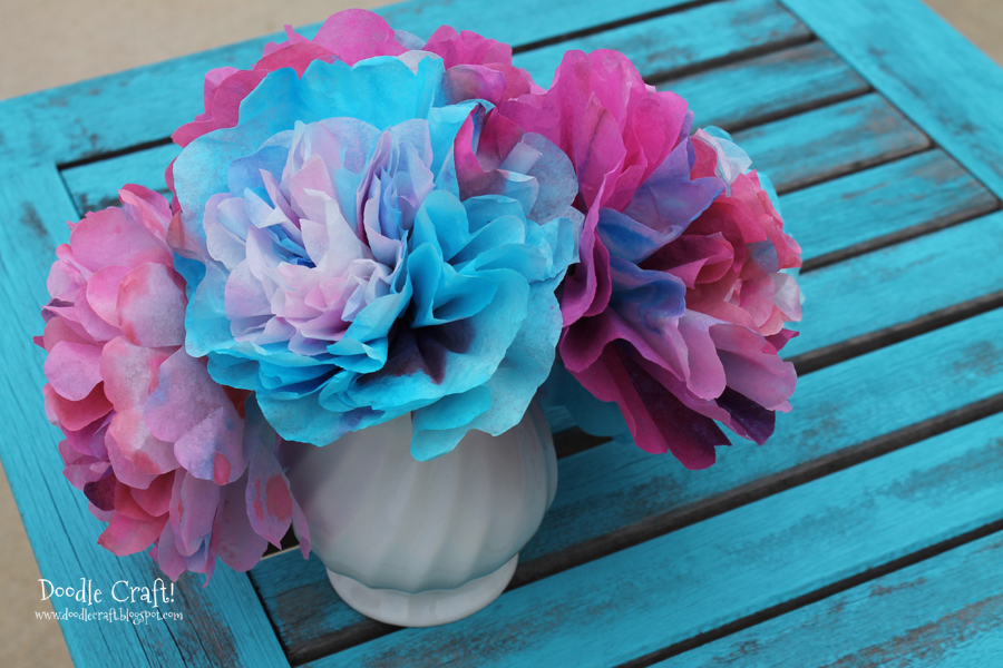 Coffee Filter Flowers!  Great for Valentine's Day and Spring!