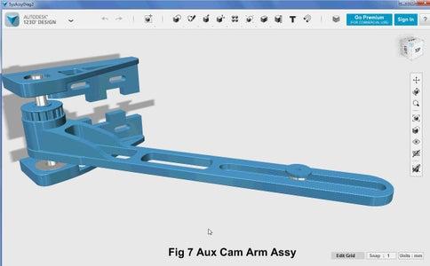 3D Parts Design - Auxiliary Cam Arm