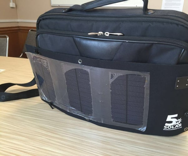 Attach a Brown Dog Solar Panel to Your Briefcase