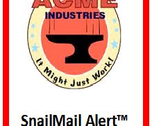 Snail Mail Alert