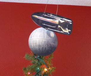 Customizable Motorized Tree Topper With Star Wars Flair
