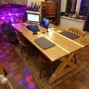"""The """"Work From Home"""" Solid Oak & Pine Kitchen Table"""