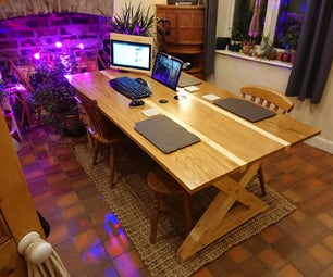 "The ""Work From Home"" Solid Oak & Pine Kitchen Table"