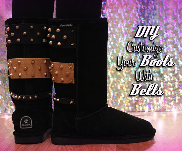 Customize Your Boots With Belts!