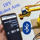 DIY   Smartphone (Bluetooth) Controlled Robot Arm Using Arduino   HC-05