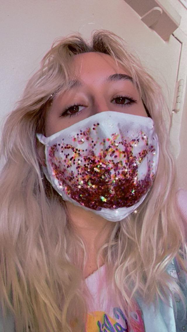 Halloween Glitter-Fall Face Mask