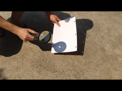How to Start a Fire With a Magnifying Glass.