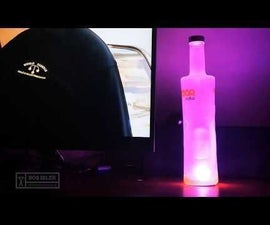 RGB Led Desk Lamp Powered by USB From Bottle