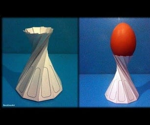 Tutorial 12 Egg Cup Support Paper Folding / Origami