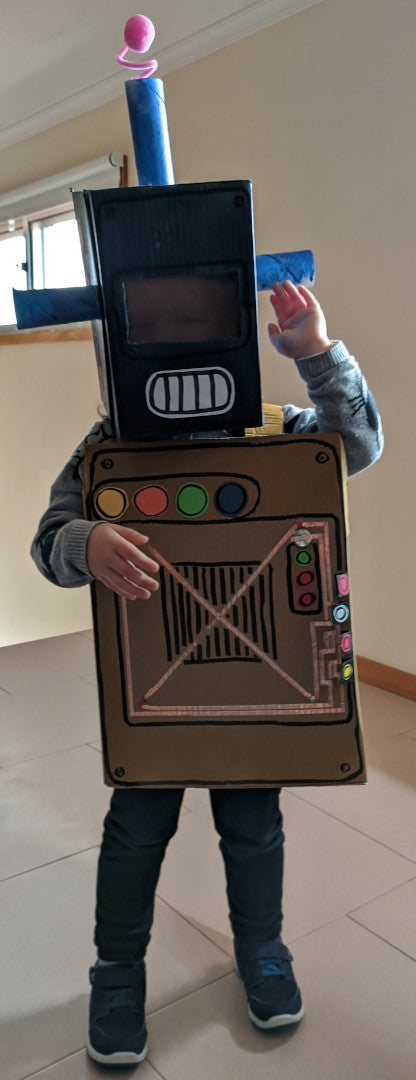 Robot Costume With Simple LED Circuit
