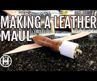 Stacked Leather Handle Maul