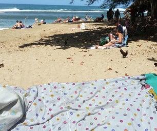 海滩毯宝贵的遮瑕膏