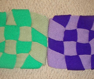 Easy Crafts With Knitted Rolls: Flexible Woven Rug