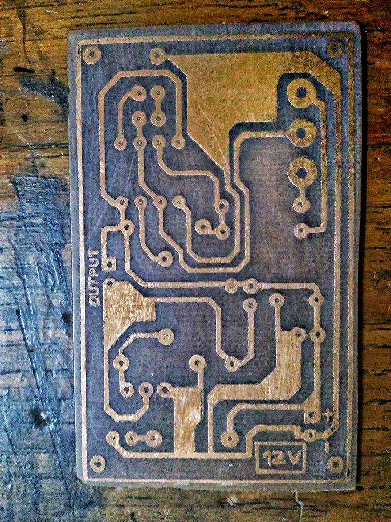Etching the PCB