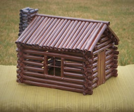 Log Cabin Made With Paper