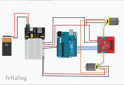 Assemble Robot Chasis and Connect Motors to Arduino Through Motor Drivers