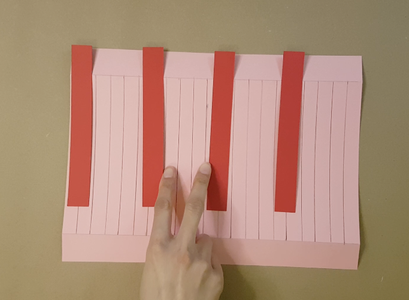 Stick on the Strips of Card