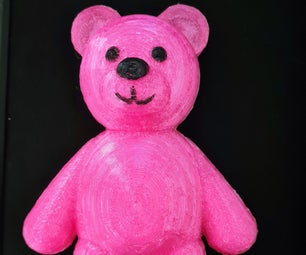 3D可打印的毛绒熊