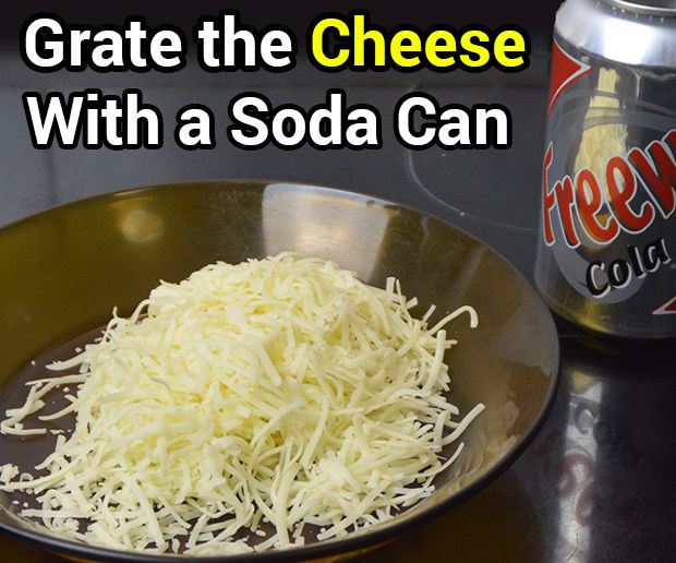Grate the Cheese With a Soda Can